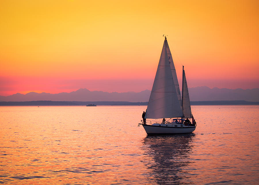 Sailboat Photograph - Peaceful Journey by Anthony J Wright