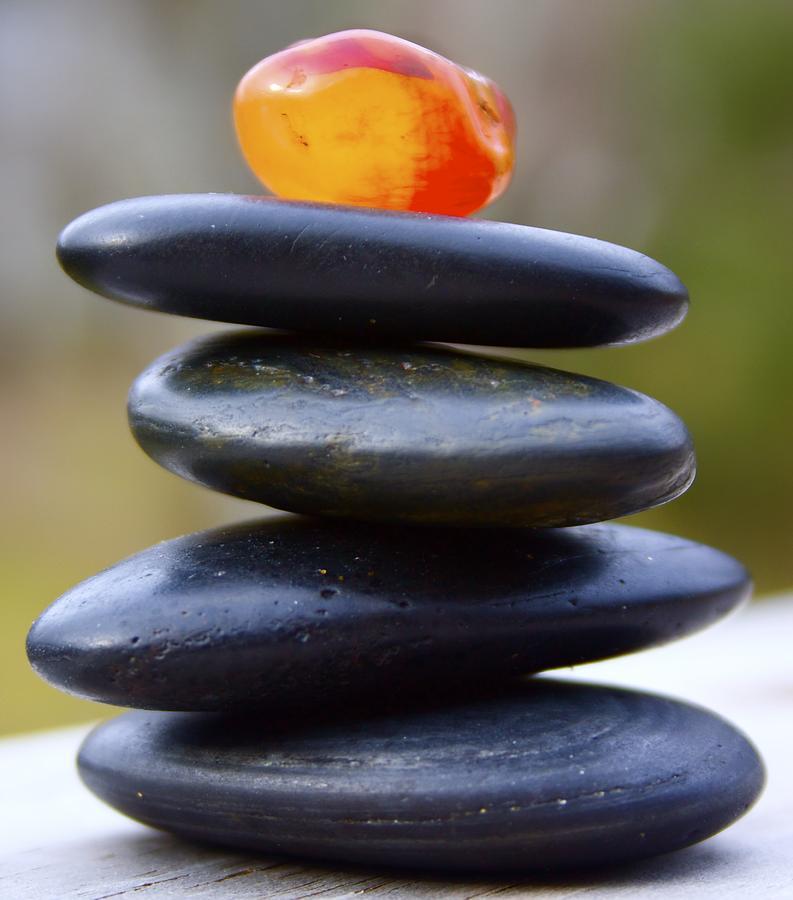 Peaceful Photograph - Peaceful Meditation Rocks by Jennifer Lamanca Kaufman