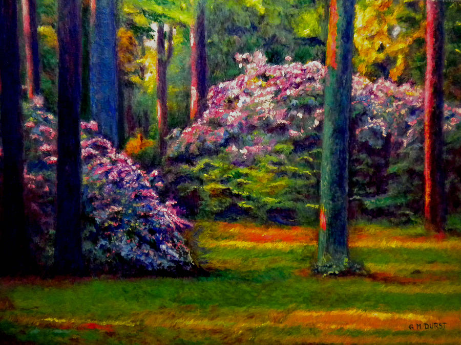 Forest Painting - Peaceful Morning by Michael Durst