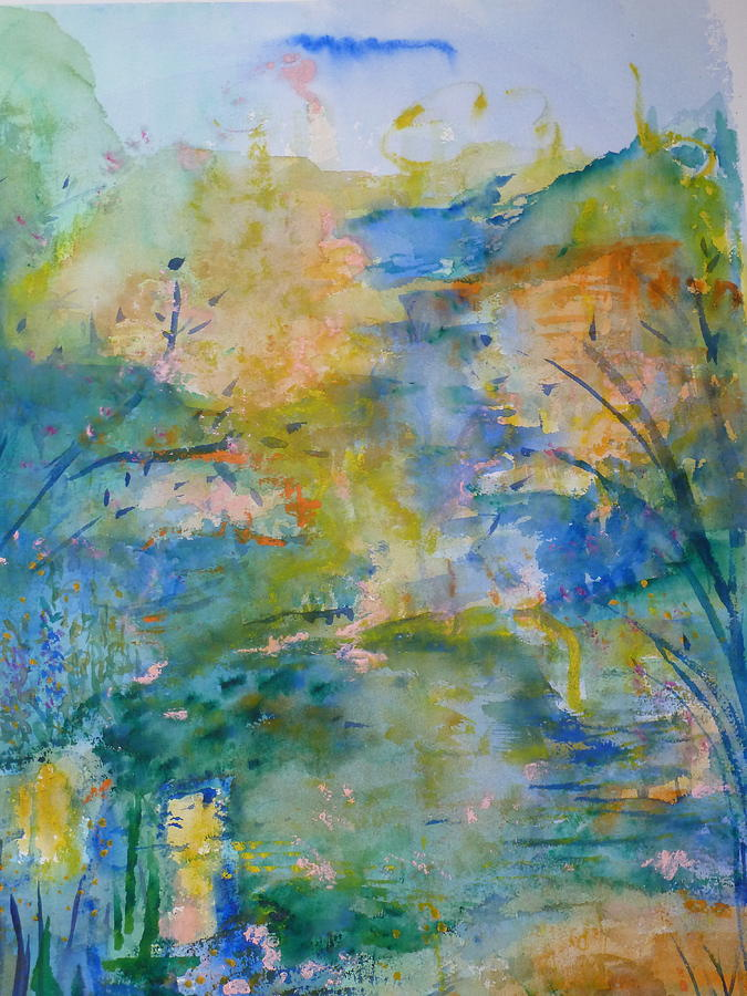 Peaceful Painting - Peaceful Path by Phoenix Simpson