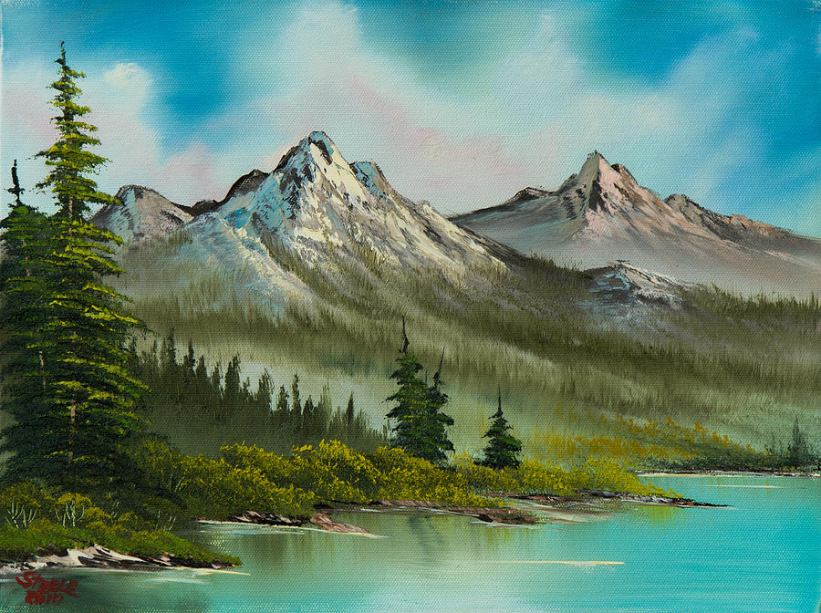 Landscape Painting - Peaceful Pines by C Steele