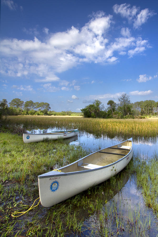 Boats Photograph - Peaceful Prairie by Debra and Dave Vanderlaan