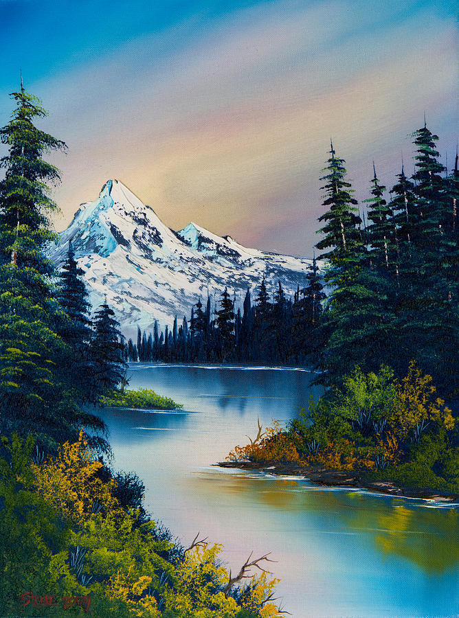 Landscape Painting - Tranquil Reflections by Chris Steele