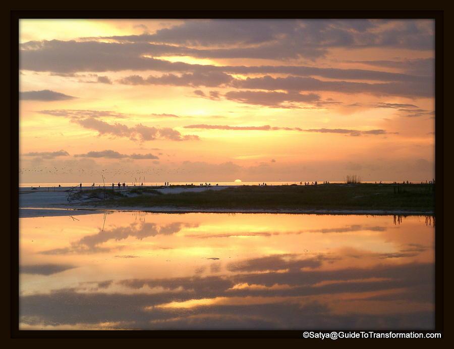 Sunset Pastel - Peaceful Reflections by Satya Winkelman