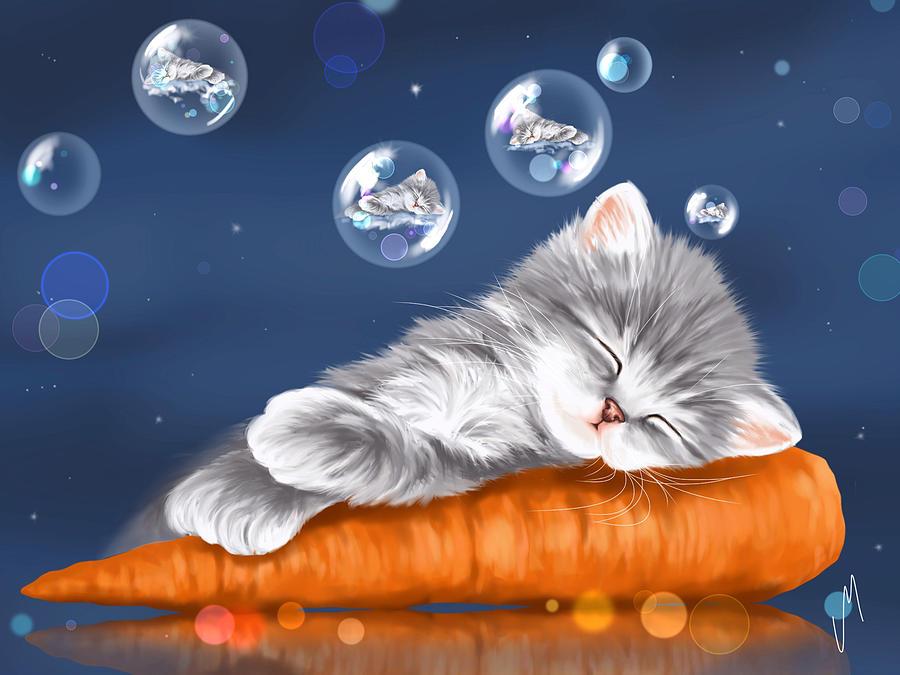 Открытки с доброй ночью с котятами