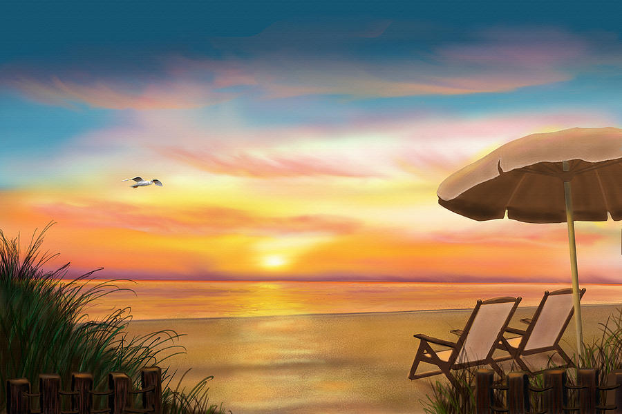 Peaceful Ocean Painting On Canvas