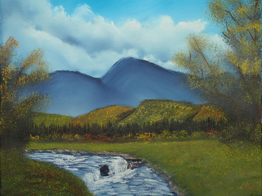 Stream Painting - Peaceful Valley by Henry Parker