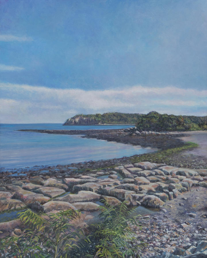 New England Painting - Peaceful View From Peaks Island Me by David P Zippi