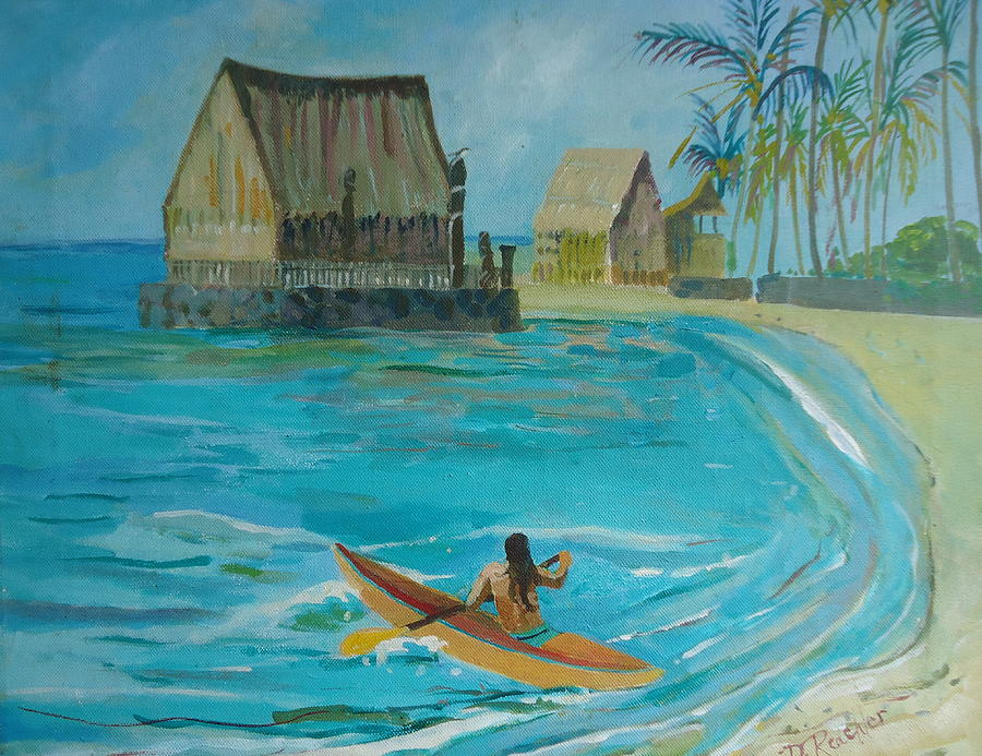 Tropical Painting - Peaceful Waters by Diane Renchler