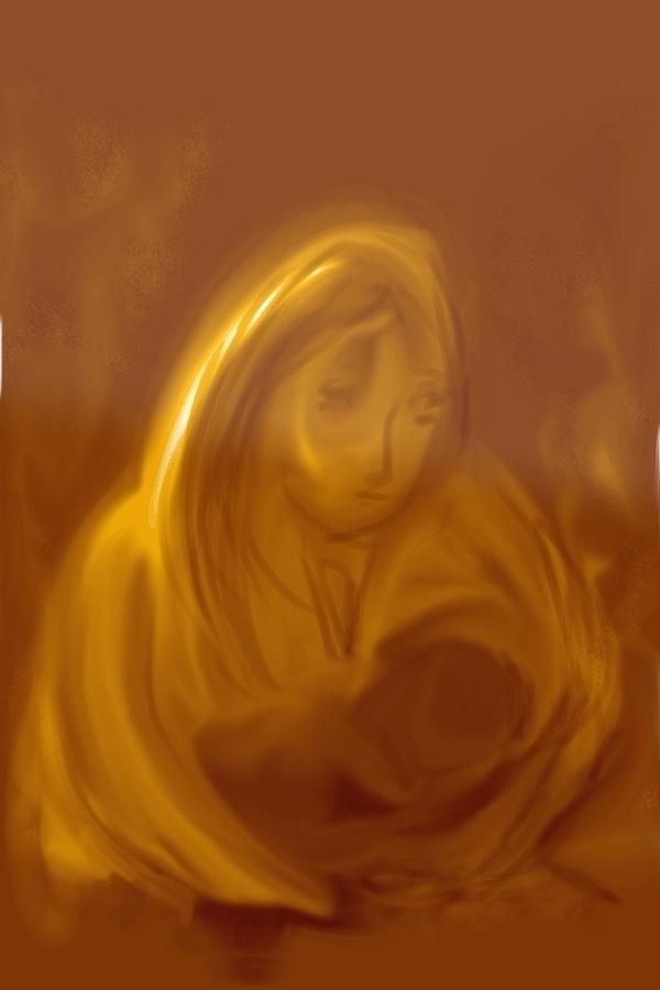 Mother Digital Art - Peacefully Moments by Peggy Bosse