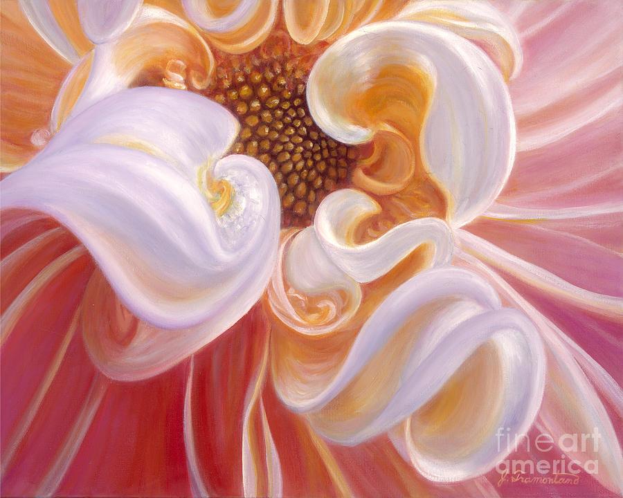Peach Dalia by Jeannette Tramontano
