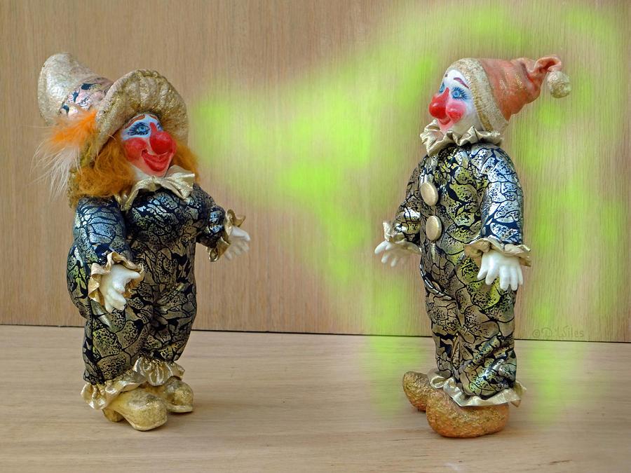 Clown Sculpture - Peaches Dazzles Ferd by David Wiles