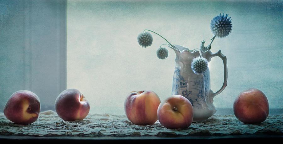Peaches Still Life by Maggie Terlecki
