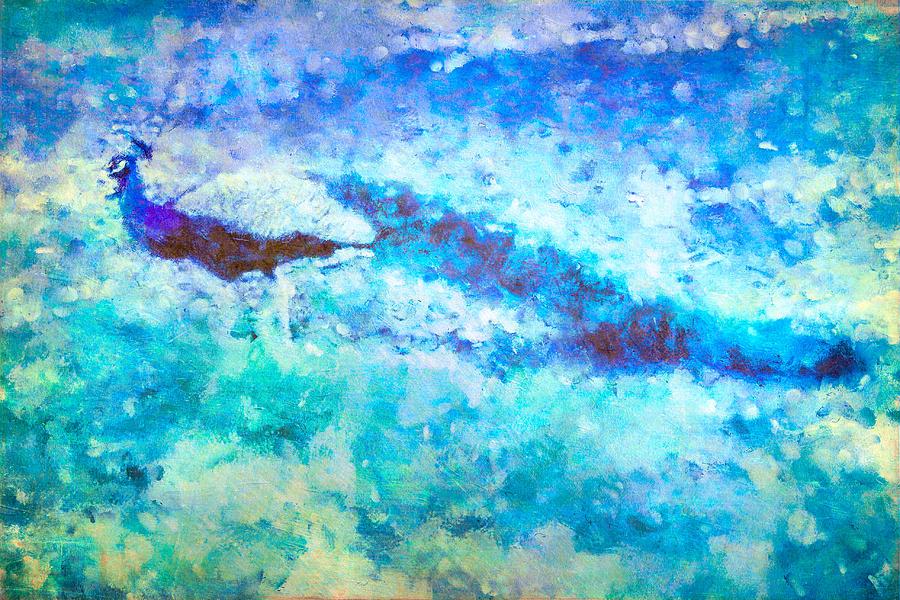 Peacock Blues Art by Priya Ghose
