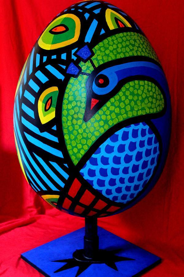 Peacock Painting - Peacock Egg II  by John  Nolan
