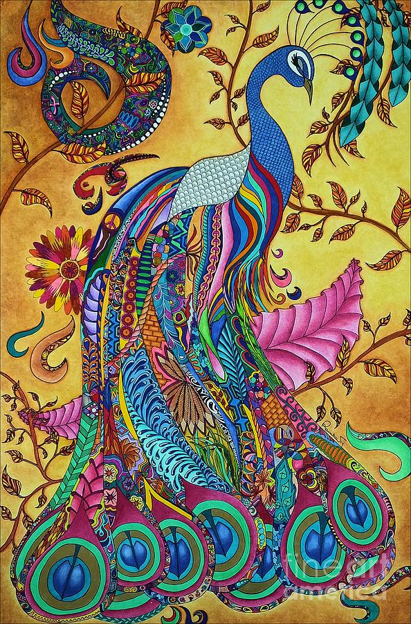 Peacock Painting By Rebeca Rambal