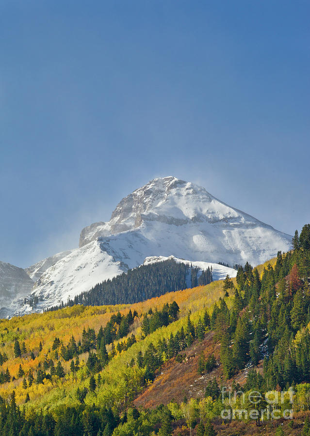 Photo Photograph - Peak After First Snow Rocky Mts Colorado by Yva Momatiuk John Eastcott