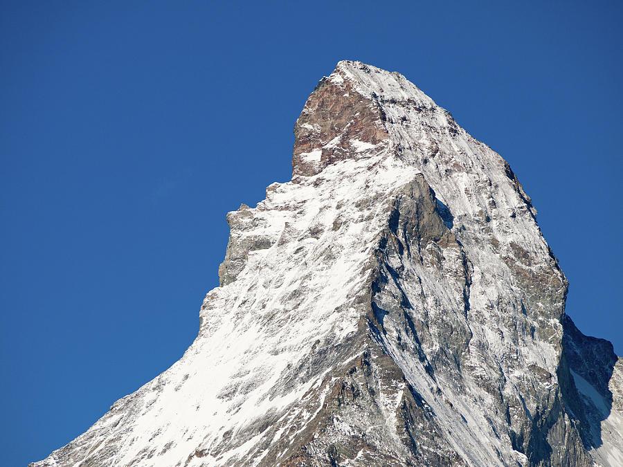 Peak Of Matterhorn Photograph by Mistikas