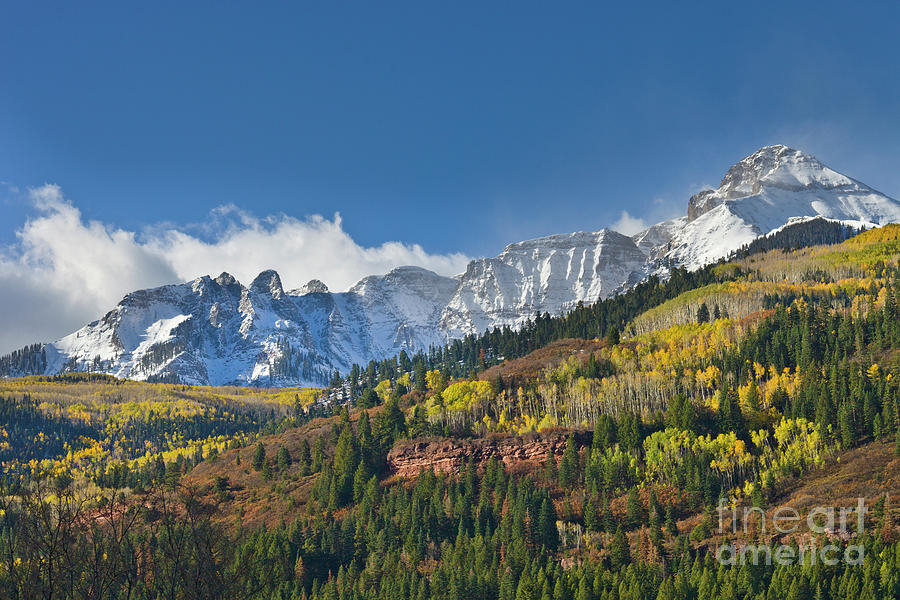 Peaks After First Snow Rockies Photograph by Yva Momatiuk John Eastcott