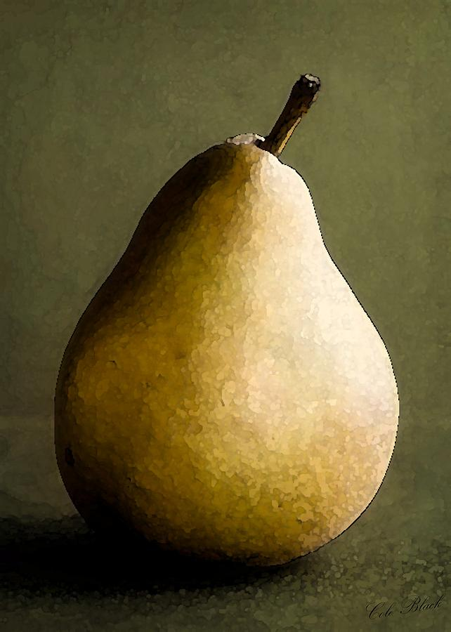 Pear Painting - Pear by Cole Black