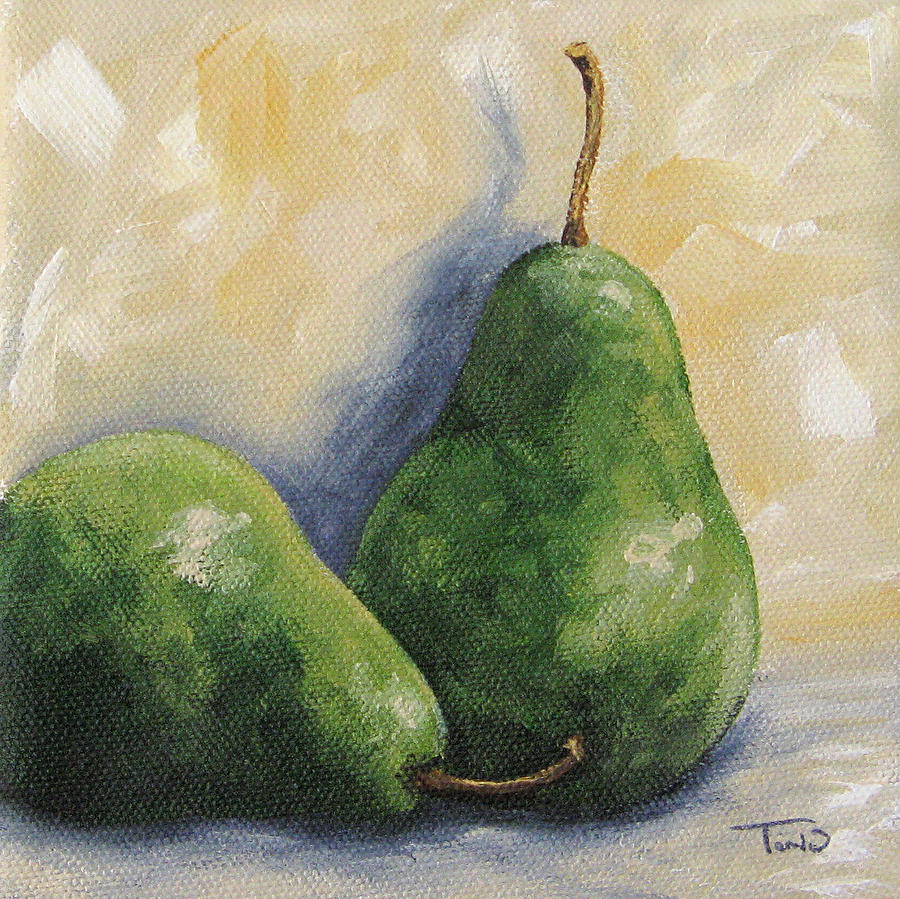Pear Painting - Pear Duet by Torrie Smiley