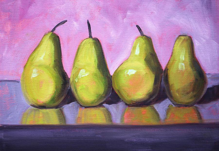 Pear Painting - Pear Line by Nancy Merkle