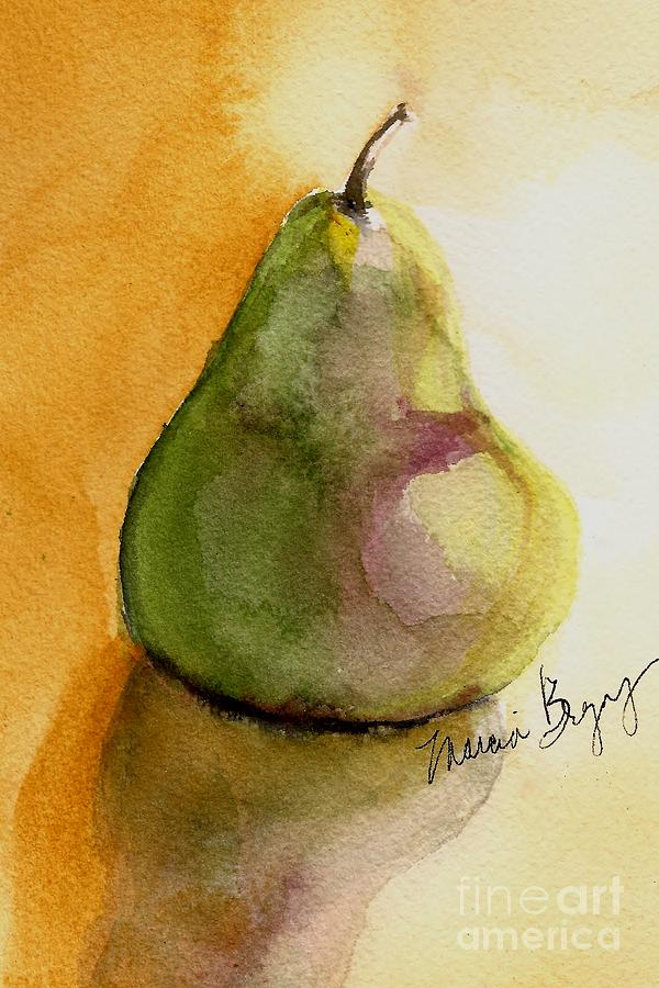 Pear Painting - Pear by Marcia Breznay