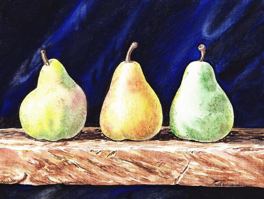 Agriculture Painting - Pear Pear And A Pear by Irina Sztukowski