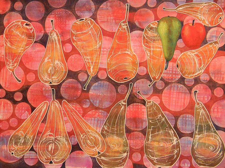 Pear Painting - Pear Sphere by Adel Nemeth