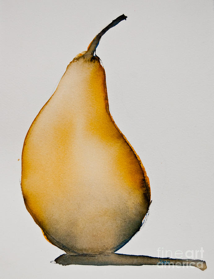 Food Painting - Pear Study by Jani Freimann