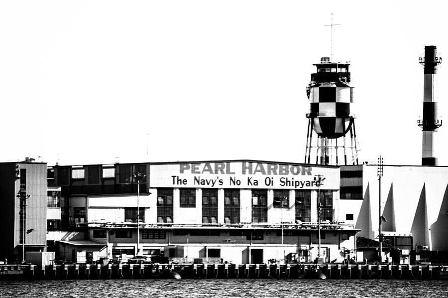 Oahu Photograph - Pearl Harbor Shipyard by Lisa Cortez