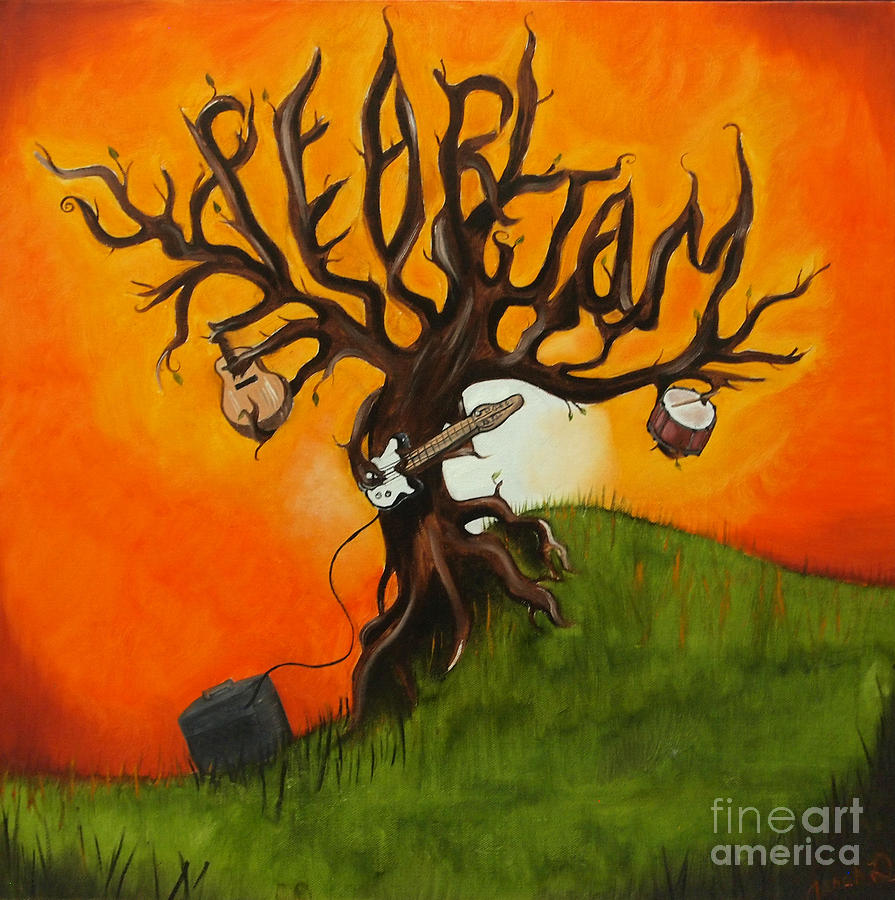 pearl jam tree painting by tarah davis. Black Bedroom Furniture Sets. Home Design Ideas