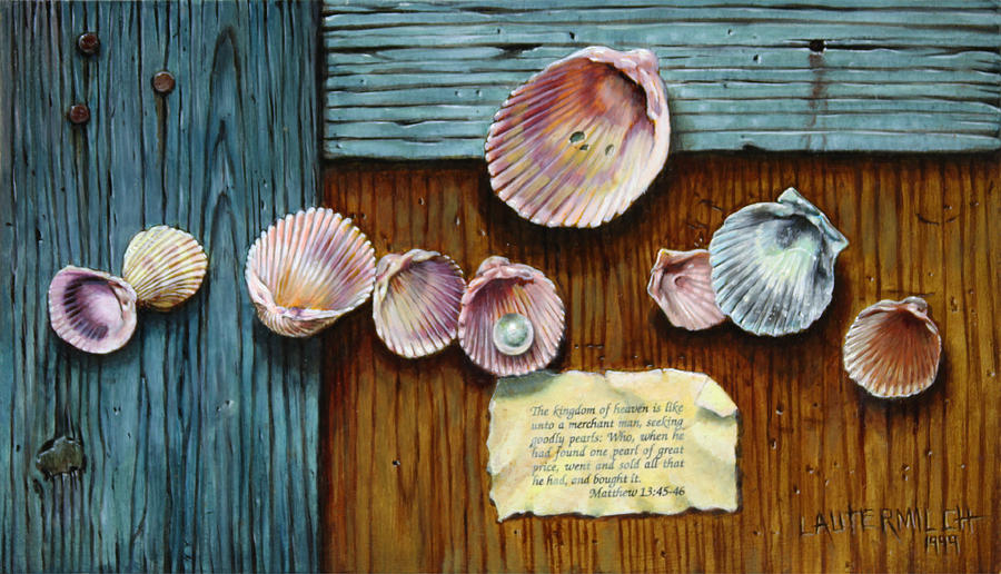 Pearl of great price painting by john lautermilch for Pearl arts and crafts closing