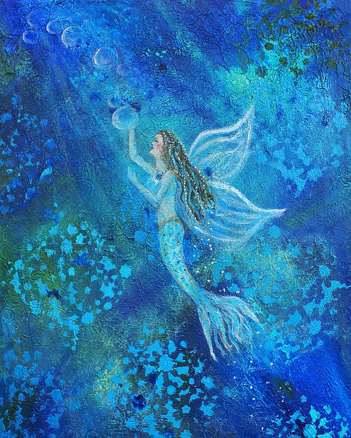Angel Painting - Pearl Out Of The Depths by The Art With A Heart By Charlotte Phillips