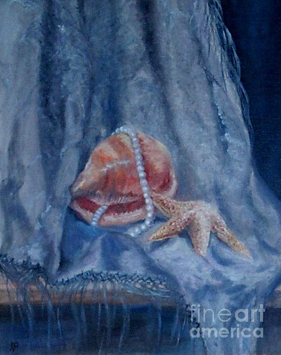 Earl Painting - Pearls And Shells by Irene Pomirchy