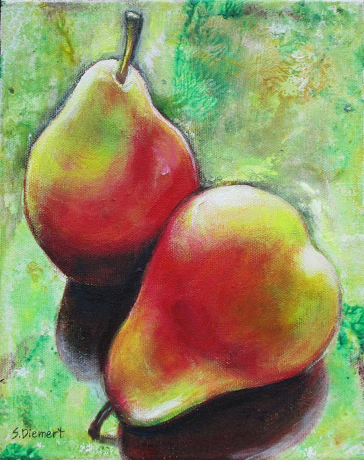 Pear Painting - Pears 2 by Sheila Diemert