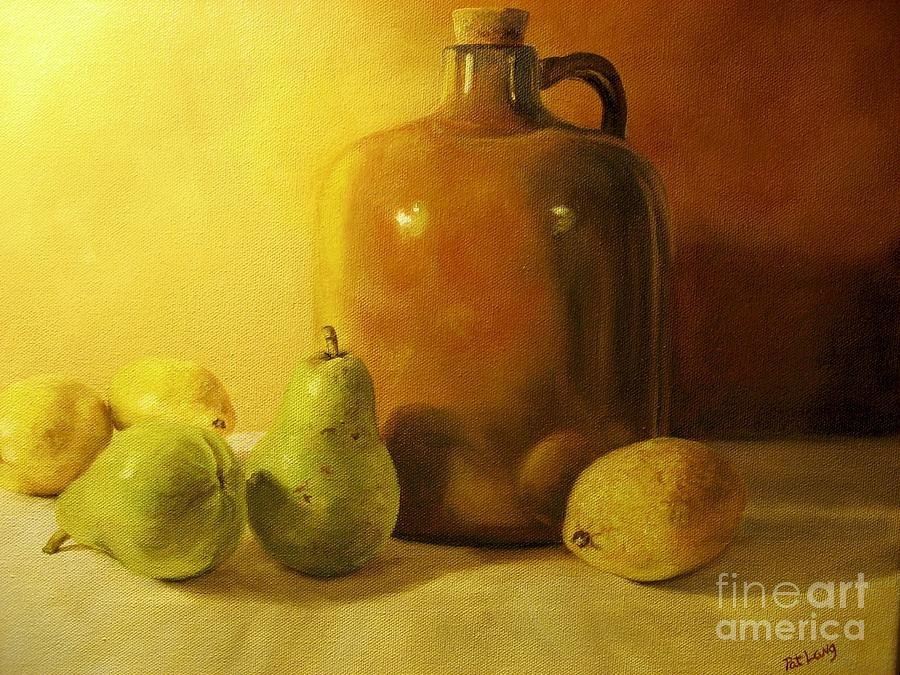 Still Life Painting - Pears And Lemons by Patricia Lang