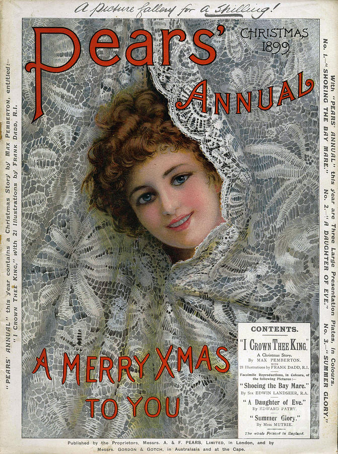 Nineteenth Century Drawing - Pears Annual 1899 1890s Uk Cc Christmas by The Advertising Archives