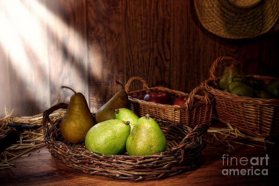 Pears Photograph - Pears At The Old Farm Market by Olivier Le Queinec