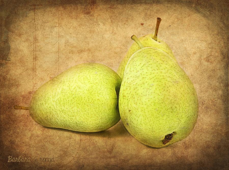 Pears Photograph - Pears by Barbara Orenya