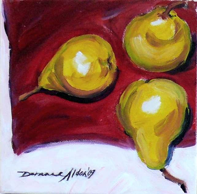 Still Life Painting - Pears by Doranne Alden