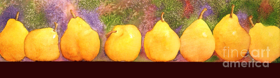 Watercolor Painting - Pears by Gwen Nichols