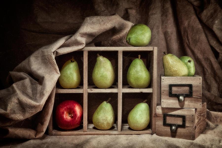 Abundance Photograph - Pears on Display Still Life by Tom Mc Nemar