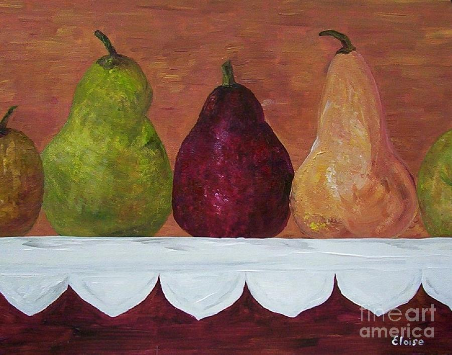 Pear Painting - Pears On Parade   by Eloise Schneider