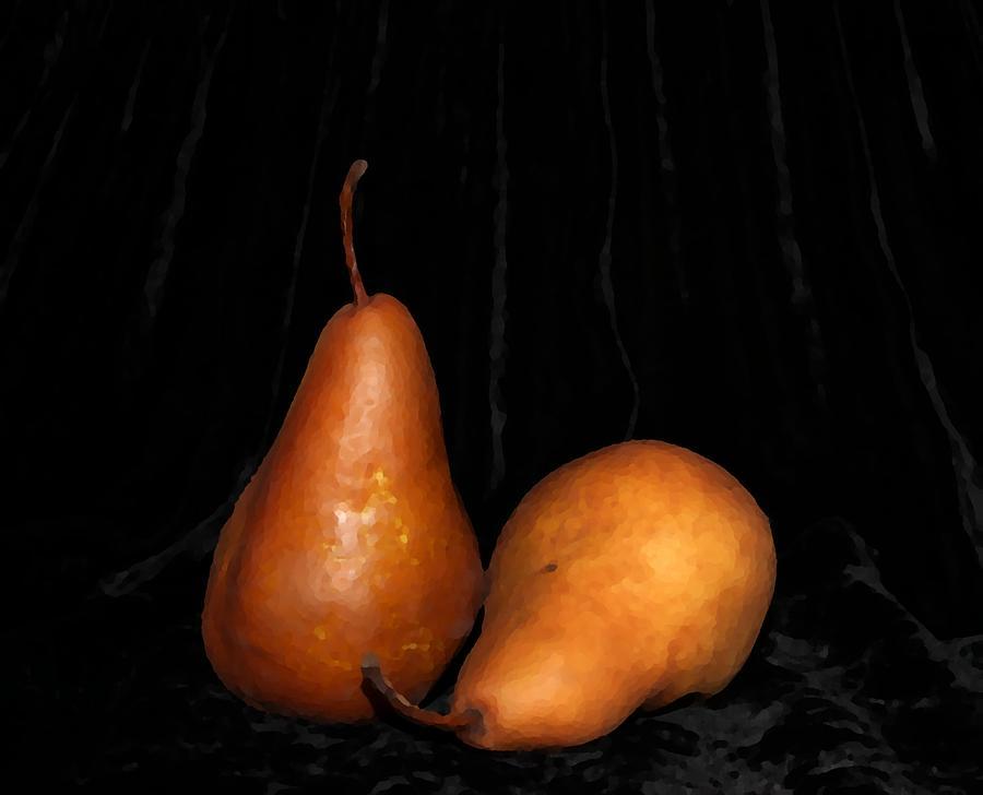 Pears Photograph - Pears on Velvet by Linda C Johnson