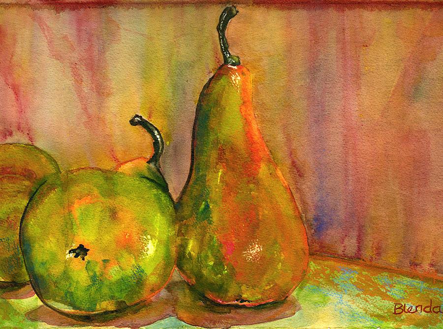 Pears Painting - Pears Still Life Art  by Blenda Studio