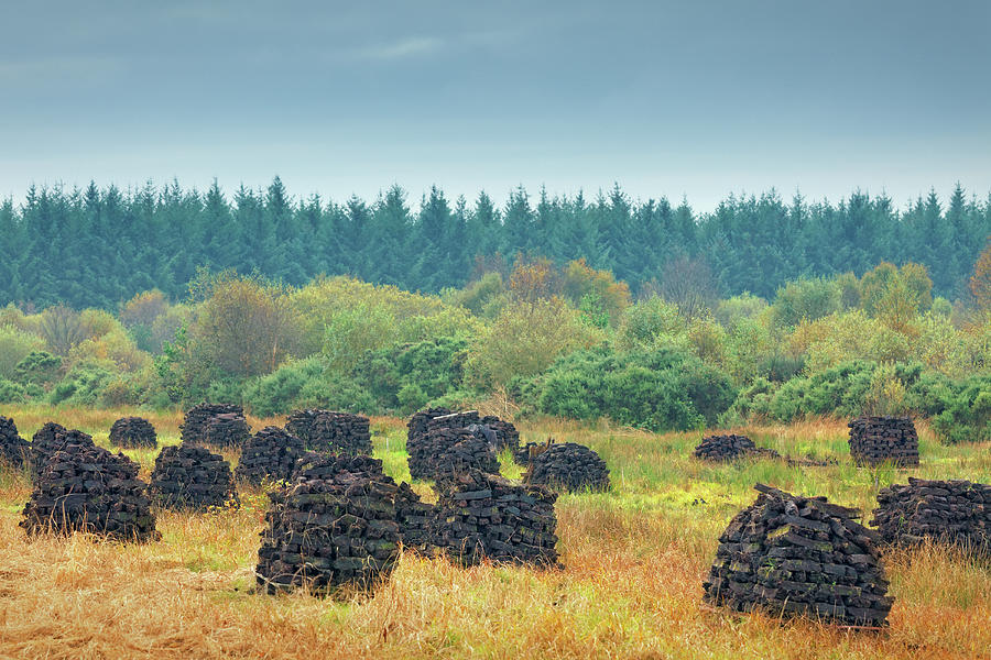 Peat Stacks In Ireland Photograph by Mammuth