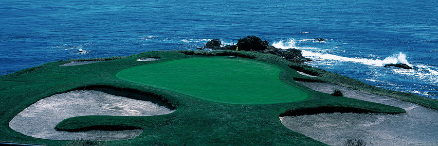 Color Image Photograph - Pebble Beach Golf Course 8th Green by Panoramic Images