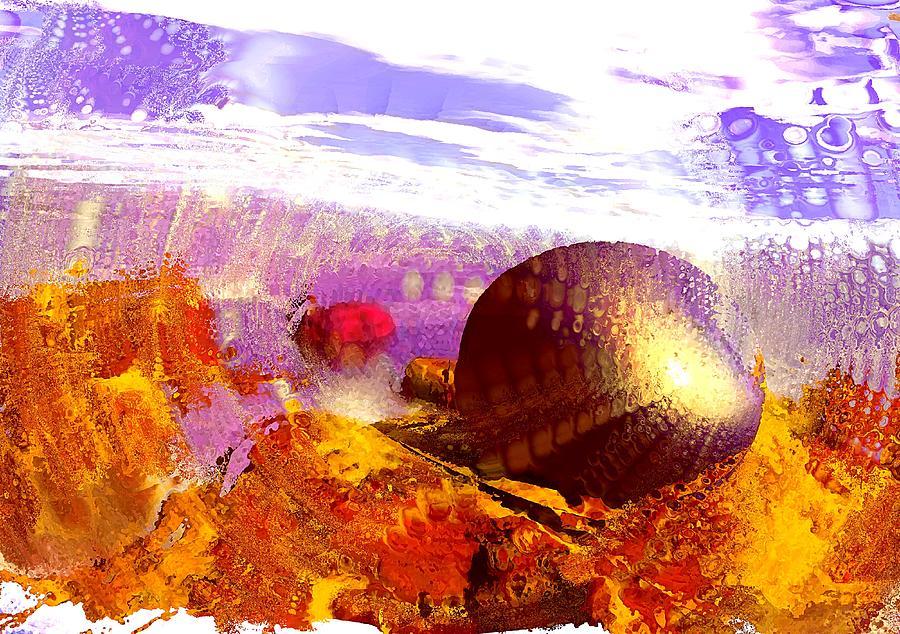Computer Digital Art - Pebbles On A Beach by Anastasiya Malakhova