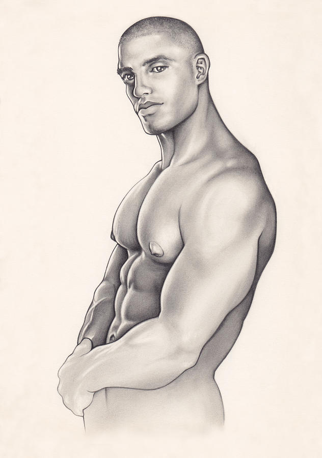 Nude Drawing - Pecs by Rudy Nagel